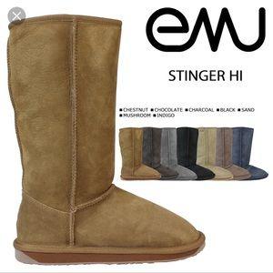 Emu stinger hi chestnut boots